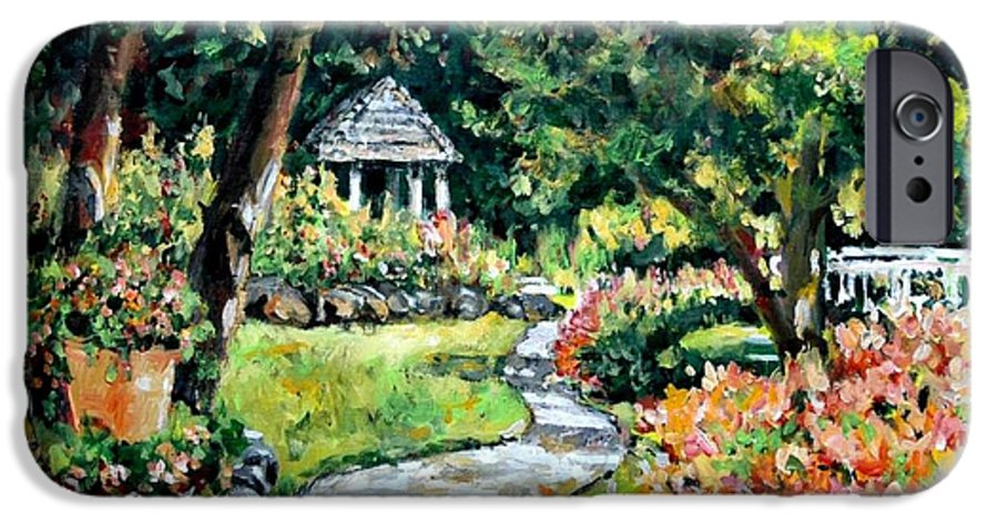 Landscape IPhone 6 Case featuring the painting La Paloma Gardens by Alexandra Maria Ethlyn Cheshire