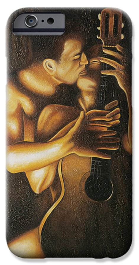 Acrylic IPhone 6 Case featuring the painting La Serenata by Arturo Vilmenay
