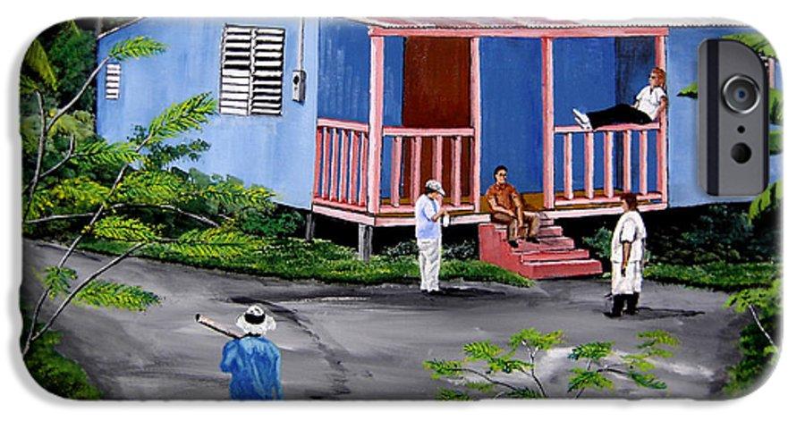 Campo IPhone 6 Case featuring the painting La Vida En Las Montanas De Moca by Luis F Rodriguez