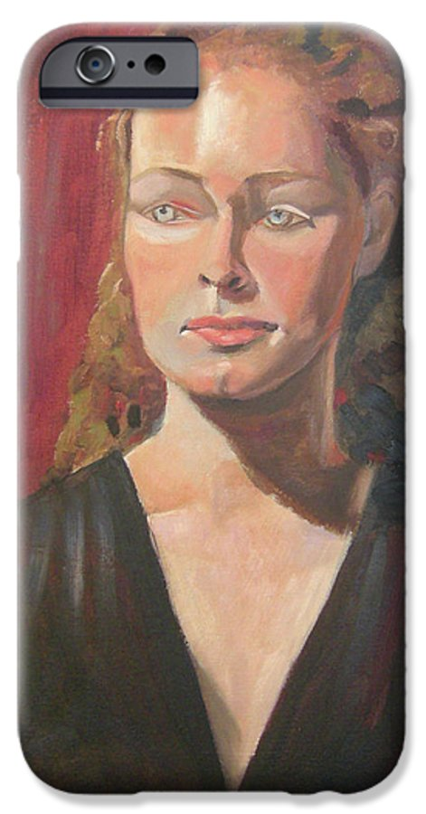 Portrait IPhone 6 Case featuring the painting Lady Ann by Lilibeth Andre