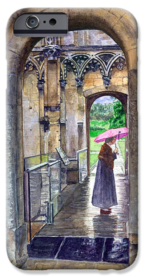 Glastonbury IPhone 6 Case featuring the painting Lady Chapel by John D Benson