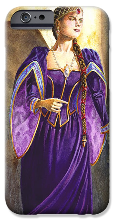 Camelot IPhone 6 Case featuring the painting Lady Ettard by Melissa A Benson