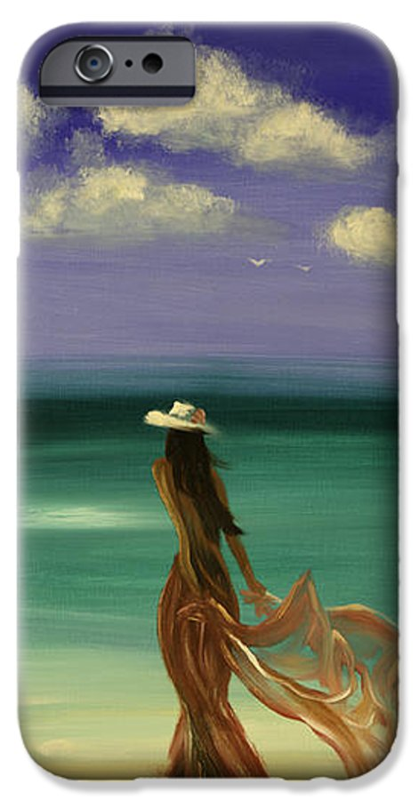 Nice IPhone 6 Case featuring the painting Lady In Red by Gina De Gorna