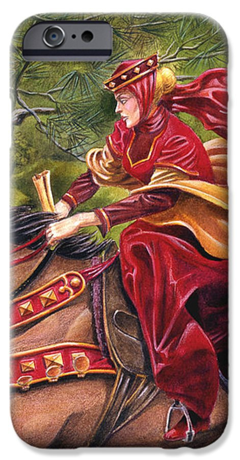Camelot IPhone 6 Case featuring the painting Lady Lunete by Melissa A Benson