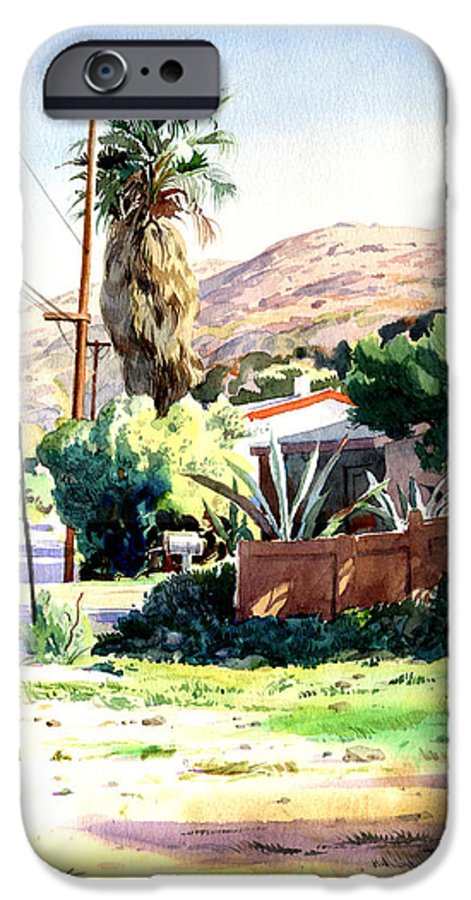 Watercolor IPhone 6 Case featuring the painting Laguna Canyon Palm by John Norman Stewart