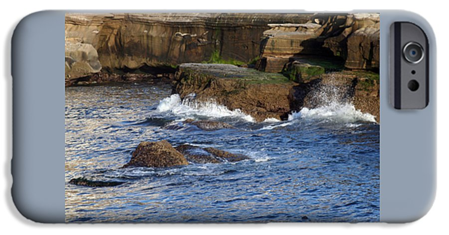 Ocean IPhone 6 Case featuring the photograph Lajolla Rocks by Margie Wildblood
