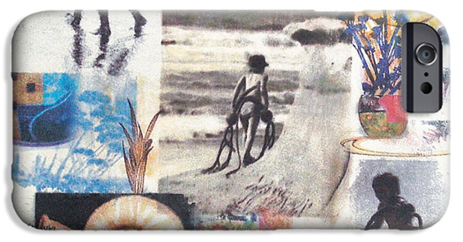 Abstract IPhone 6 Case featuring the painting Lajolla by Valerie Meotti