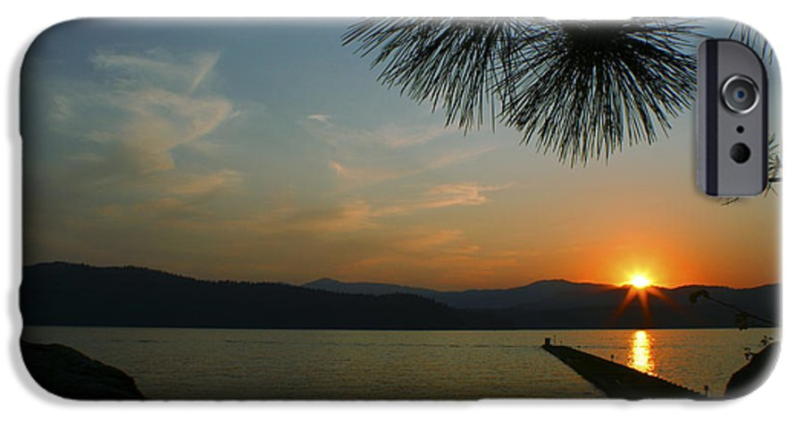 Sunset IPhone 6 Case featuring the photograph Lake Sunset by Idaho Scenic Images Linda Lantzy
