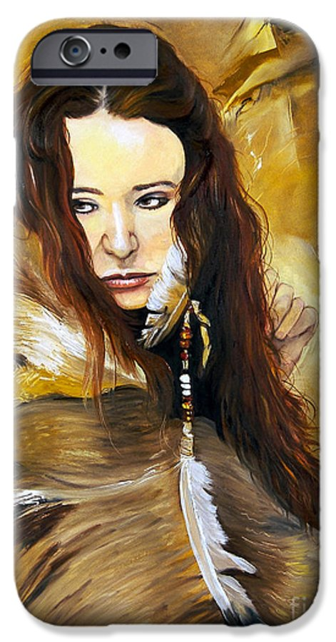 Southwest Art IPhone 6 Case featuring the painting Lament by J W Baker