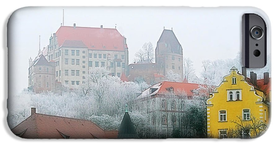 City IPhone 6 Case featuring the photograph Landshut Bavaria On A Foggy Day by Christine Till
