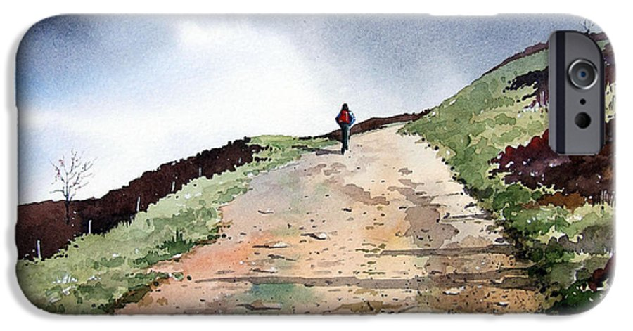 Landscape IPhone 6 Case featuring the painting Lane To Quarry Pole Moor by Paul Dene Marlor
