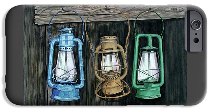 Lanterns IPhone 6 Case featuring the painting Lanterns by Ferrel Cordle