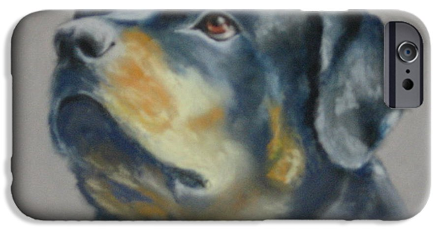 Dog IPhone 6 Case featuring the painting Lars by Carol Mueller