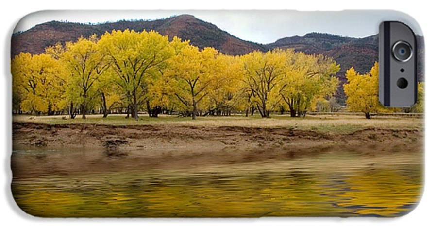 River IPhone 6 Case featuring the photograph Las Animas Fall by Jerry McElroy