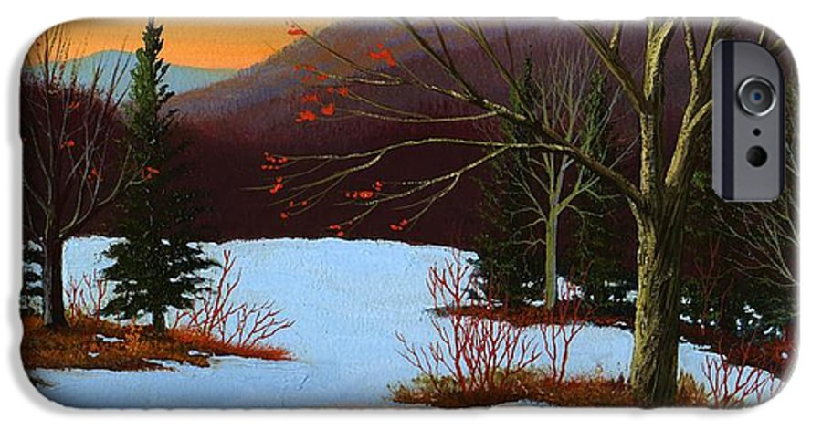 Winter IPhone 6 Case featuring the painting Last Light Of Day by Frank Wilson