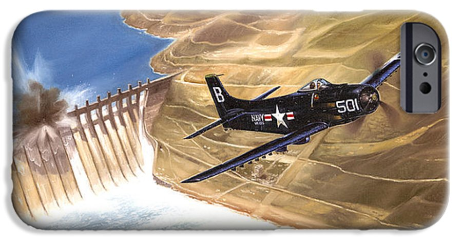 Military IPhone 6 Case featuring the painting Last Of The Dambusters by Marc Stewart