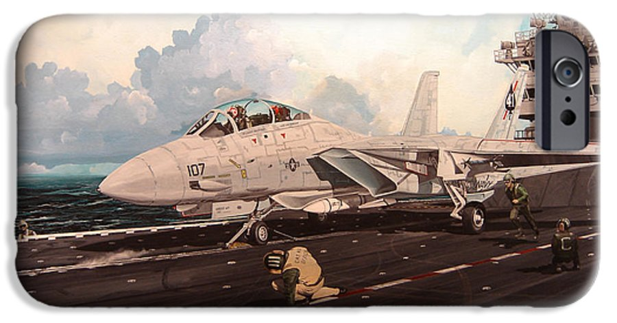 Military IPhone 6 Case featuring the painting Launch The Alert 5 by Marc Stewart