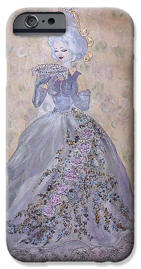 Still Life IPhone 6 Case featuring the painting Lavender Lady by Phyllis Mae Richardson Fisher
