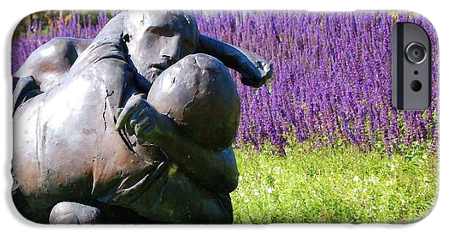 Statue IPhone 6 Case featuring the photograph Lavender Lovers by Debbi Granruth