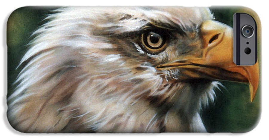 Southwest Art IPhone 6 Case featuring the painting Leather Eagle by J W Baker