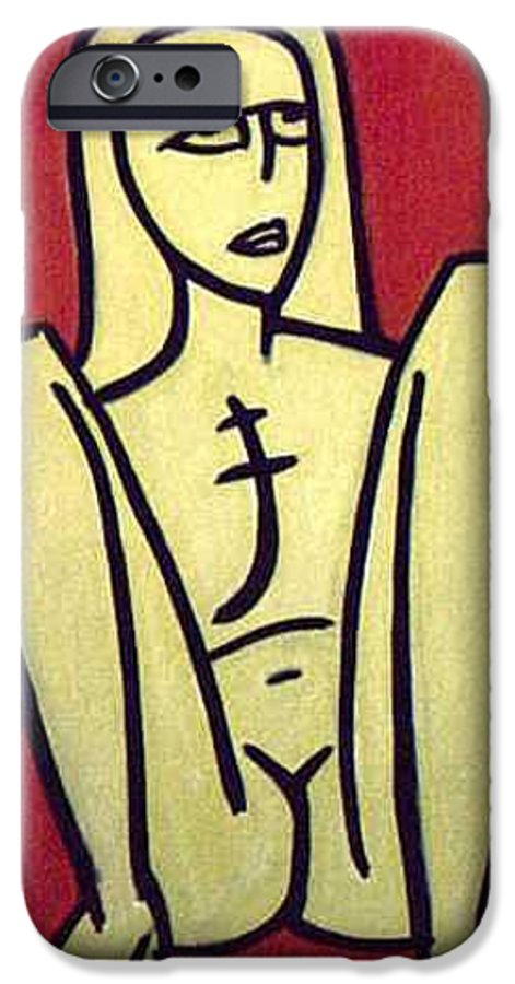 Nude IPhone 6 Case featuring the painting Legs by Thomas Valentine