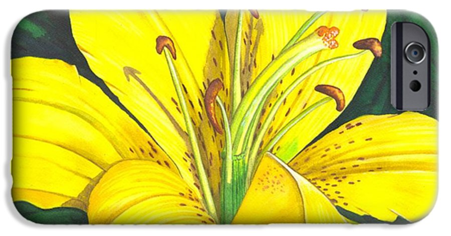 Lily IPhone 6 Case featuring the painting Lemon Lily by Catherine G McElroy