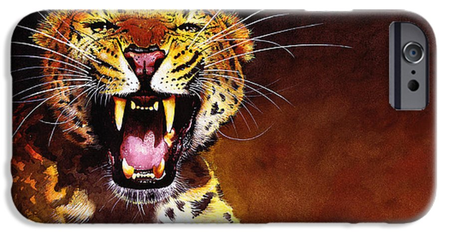 Leopard IPhone 6 Case featuring the painting Leopard by Paul Dene Marlor