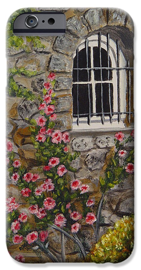 Window IPhone 6 Case featuring the painting Les Arcs Sur Argens by Quwatha Valentine