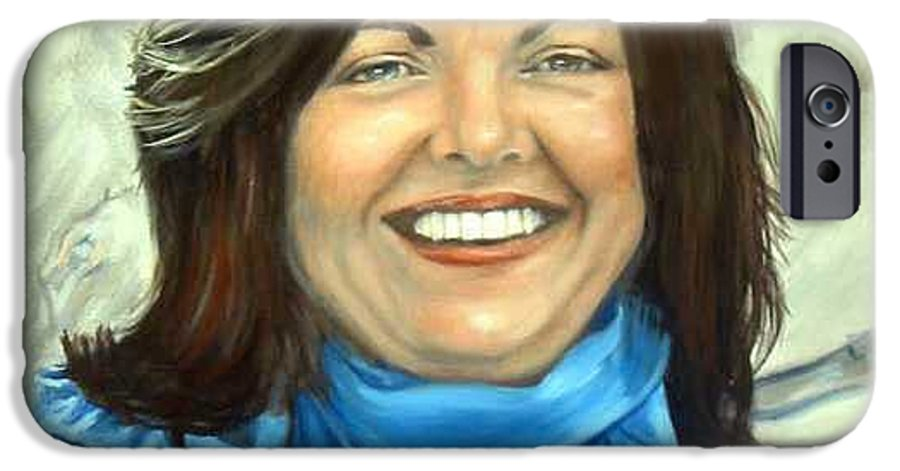 IPhone 6 Case featuring the painting Leslie Eliason by Anne Kushnick