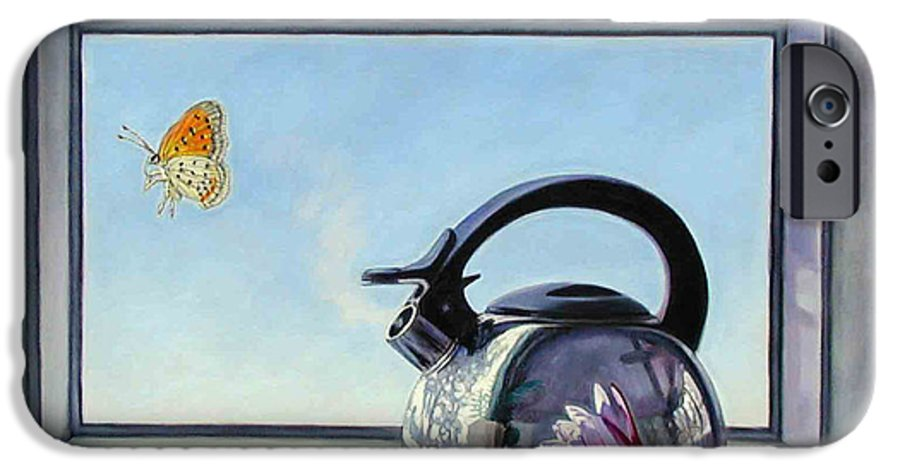 Steam Coming Out Of A Kettle IPhone 6 Case featuring the painting Life Is A Vapor by John Lautermilch