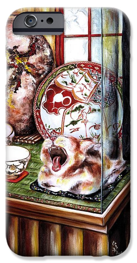 Cat IPhone 6 Case featuring the painting Life Is Beautiful by Hiroko Sakai