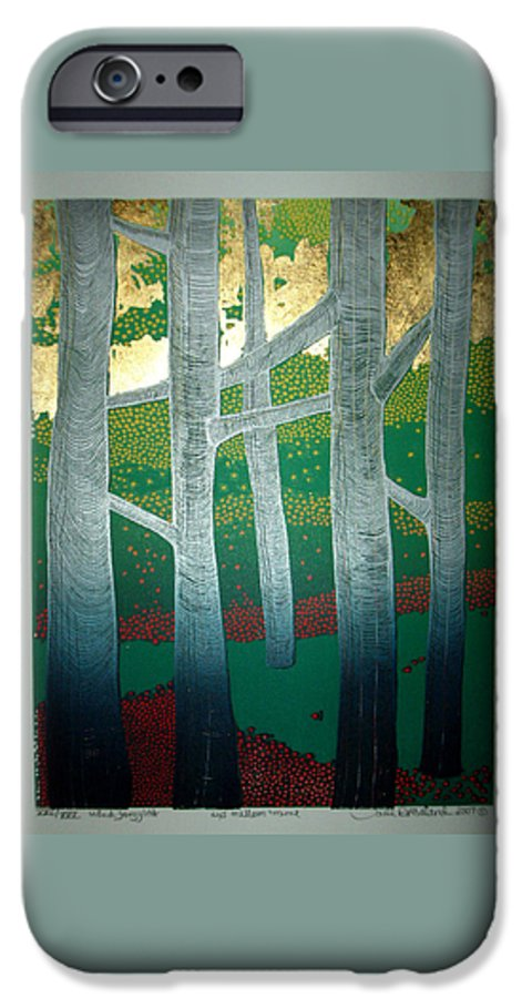 Landscape IPhone 6 Case featuring the mixed media Light Between The Trees by Jarle Rosseland