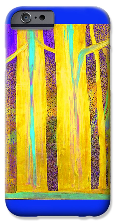 IPhone 6 Case featuring the painting Light In The Forest by Jarle Rosseland