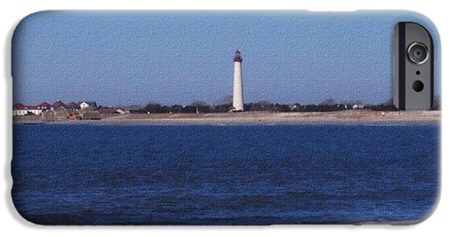 Lighthouse IPhone 6 Case featuring the photograph Lighthouse At The Point by Pharris Art