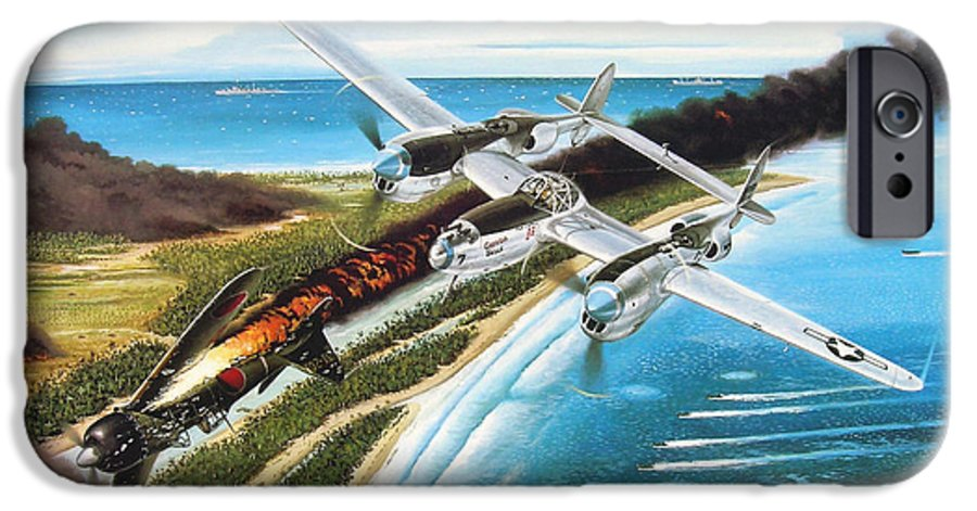 Aviation IPhone 6 Case featuring the painting Lightning Over Mindoro by Marc Stewart