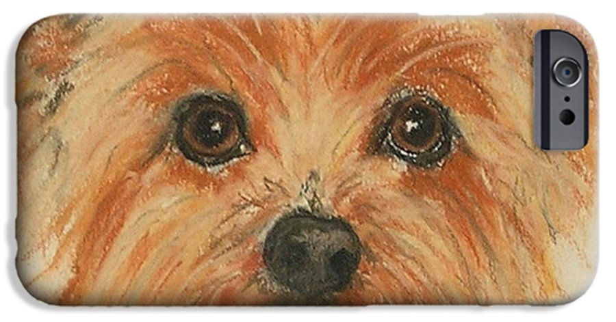 Pastel IPhone 6 Case featuring the drawing Lil Rascal by Cori Solomon