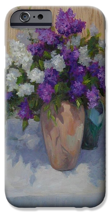 Lilacs IPhone 6 Case featuring the painting Lilacs by Patricia Kness