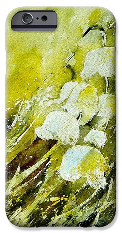 Flowers IPhone 6 Case featuring the painting Lilly Of The Valley by Pol Ledent