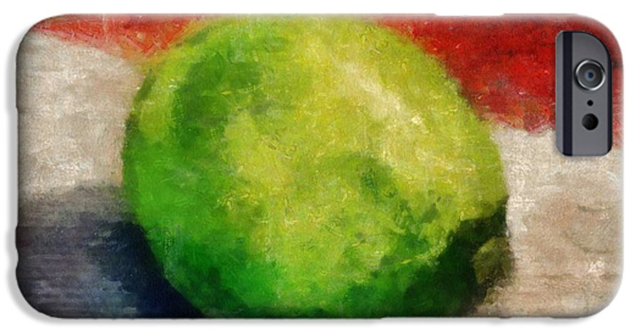 Lime IPhone 6 Case featuring the painting Lime Still Life by Michelle Calkins
