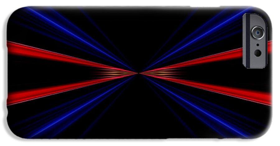 Linee Rosse E Blu Infinito Su Uno Sfondo Nero Iphone 6 Case For