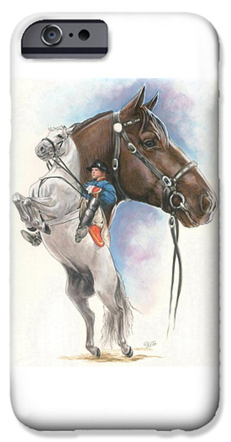 Equus IPhone 6 Case featuring the mixed media Lippizaner by Barbara Keith