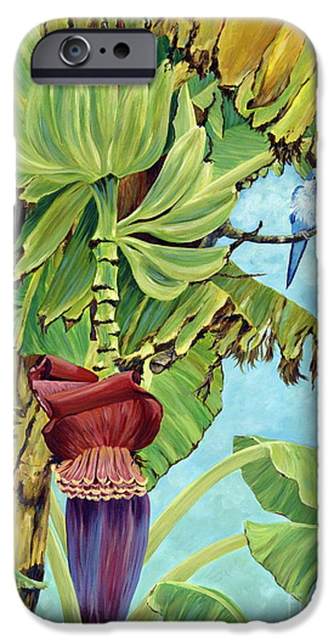 Tropical IPhone 6 Case featuring the painting Little Blue Quaker by Danielle Perry
