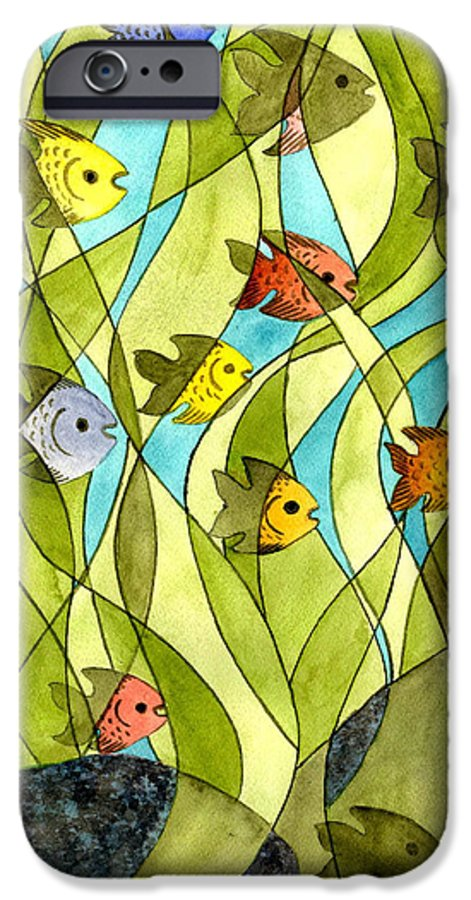Fish IPhone 6 Case featuring the painting Little Fish Big Pond by Catherine G McElroy