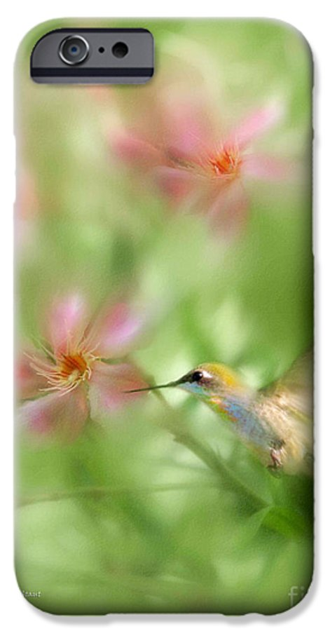 Garden Hummingbird Floral Green Tropical Oleander IPhone 6 Case featuring the photograph Little Miracles by Carolyn Staut