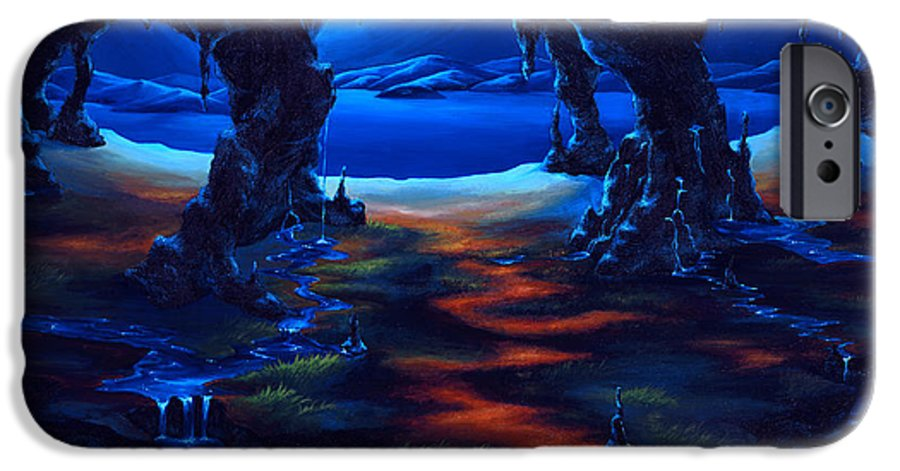 Textured Painting IPhone 6 Case featuring the painting Living Among Shadows by Jennifer McDuffie