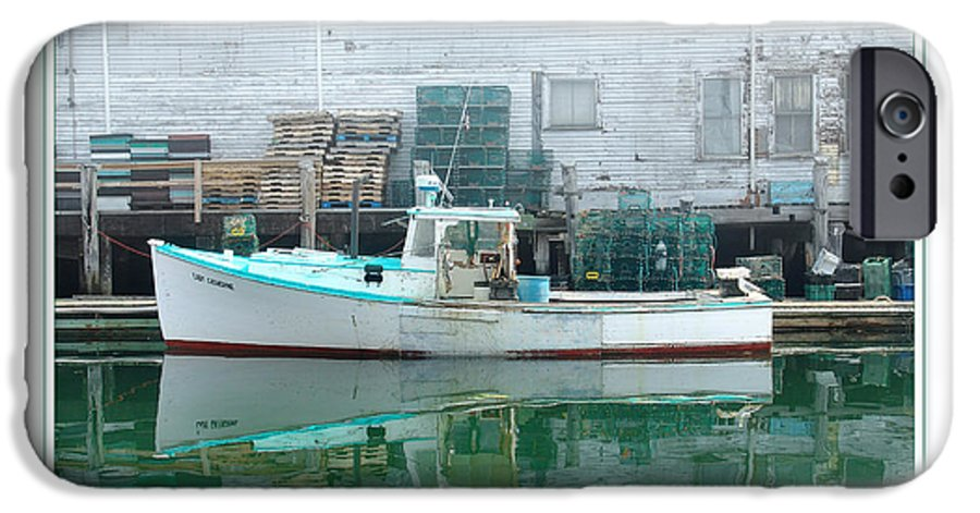 Landscape IPhone 6 Case featuring the photograph Lobster Boat by Peter Muzyka