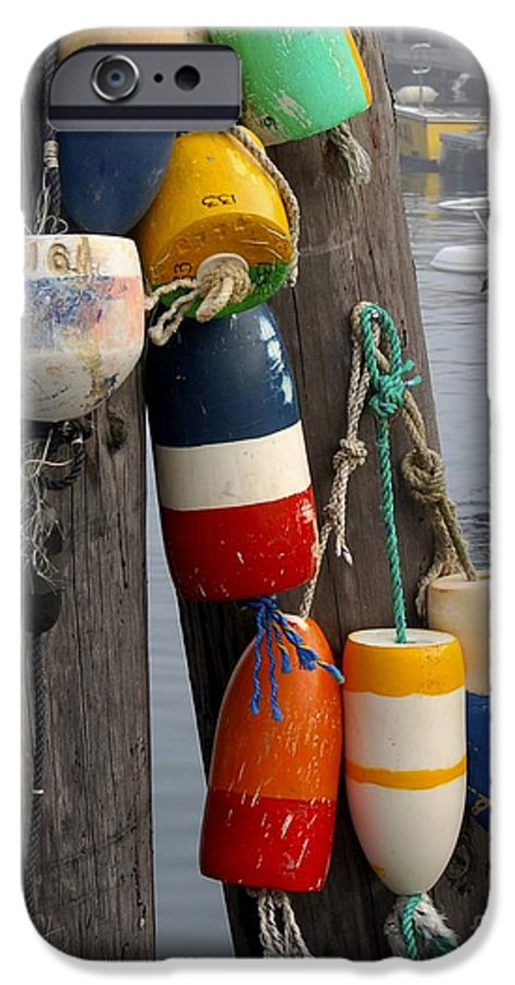 Lobster IPhone 6 Case featuring the photograph Lobster Buoy At Water Taxi Pier by Faith Harron Boudreau