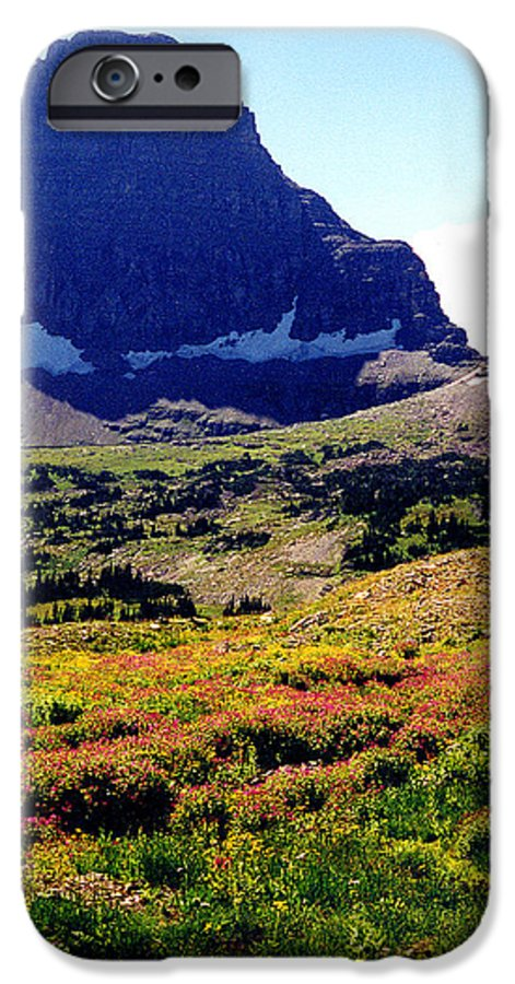 Glacier National Park IPhone 6 Case featuring the photograph Logans Pass In Glacier National Park by Nancy Mueller