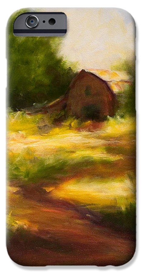 Landscape IPhone 6 Case featuring the painting Long Road Home by Shannon Grissom