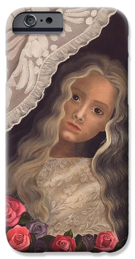 Victorian IPhone 6 Case featuring the painting Longing by Brenda Ellis Sauro
